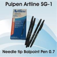 pulpen Artline SG 1 Kesing hitam tinta hitam ngak gampang macet