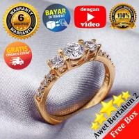Ring Silver Emas Putih ASLI, Made in Korea, RL 063 (Garansi 6 bulan) B