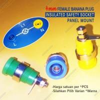 Terminal Socket Panel Safety Jack Banana Plug 4mm Binding Pos HQ BK