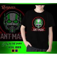 Baju Kaos Pria anak Laki-Laki Antman Glow in the Dark Rhymes - Hitam, S