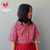 Seragam Baju Batik SD/MI/TK/PAUD JM Merah
