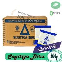 TEPUNG TERIGU SEGITIGA BIRU 500 GR DUS ISI 20 - GROSIR BAHAN BAKU KUE
