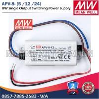 POWER SUPPLY LED DRIVER MEANWELL APV-8-12 APV-8-24 MEANWELL 8watt 12V