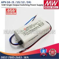 POWER SUPPLY LED DRIVER MEANWELL APV-16-12 APV-16-24 MEANWELL 16watt