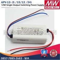 POWER SUPPLY LED DRIVER MEANWELL APV-12-12 APV-12-24 MEANWELL 12watt