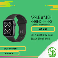 APPLE WATCH SERIES 6 GPS 40MM GREY ALUMINIUM CASE BLACK SPORT BAND