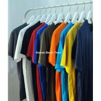 Kaos Polos Katun Bambu [Cotton Bamboo] Size S, M, L, XL, XXL
