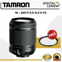 LENSA TAMRON 18 - 200 F/3.5-6.3 II VC FOR CANON DAN NIKON