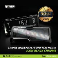 Dudukan Plat Nomor Motor ICON Chrome Aksesoris Variasi Beat Vario Nmax