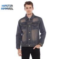 HIPSTER JAKET jeans denim pria warna SOFT BLUE