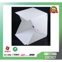Mini Photo Foto Studio Box Portable Led Putih Ukuran S 23x23x27 cm
