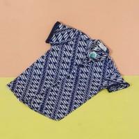 Pop Kidswear Candra Batik Shirt - Kemeja batik anak biru cap katun