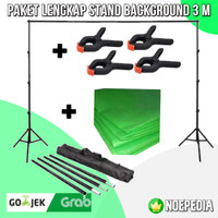 Tiang Stand Backdrop 3 Meter | Bracket Stand Background