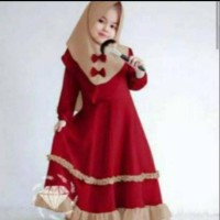 Firza Kids Baju Muslim Anak Gamis Anak Perempuan 2 s/d 12 Tahun - S