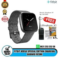 Fitbit Versa Special Edition Charcoal Garansi Resmi