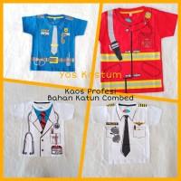 Baju Anak Laki-Laki Dokter Pemadam Pilot Poiisi Kaos Atasan Profesi