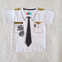Baju Anak Laki-Laki Dokter Pemadam Pilot Poiisi Kaos Atasan Profesi - Pilot, 10