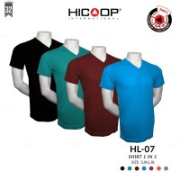 KAOS PRIA V NECK HICOOP MEN HL-07 T-SHIRT 1 IN 1