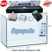 Paket Deluxe Aquarium Gex Glassterior 600