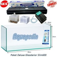 Paket Aquarium GEX Glassterior Slim 600