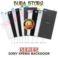 Backdoor Back Cover Belakang Sony Xperia Z1 Z2 Z Z3 Z4 Z5 Mini Premium