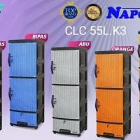New Lemari Plastik K3 Sakura Merk Napolly / Rak Susun 2 Pintu 1 Laci -