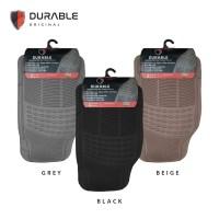DATSUN GO DURABLE Karpet Karet PVC 3 Pcs Grey