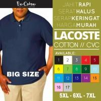 Kaos Kerah Lacoste Polo Shirt Katun JUMBO - BIG SIZE ( 5XL / 6L )
