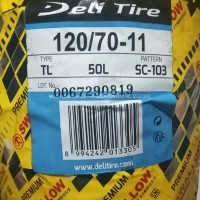 BAN R11 RING 11 UK 120/70-11 SC-103 TUBLESS DELITIRE VESPA LX VESPA S