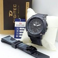 Jam Tangan Pria Digitec Original Dual Time Limited Edition Tahan Air