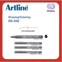 PULPEN MENGGAMBAR LUKIS DRAWING PEN ARTLINE EK-232 0.2 MM