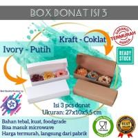 Box donat isi 3/ Dus kue bolu/brownies polos foodgrade