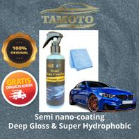 Semi nano coating by Tamoto - Pengkilap body & kaca mobil & motor helm - 100ml