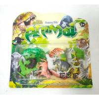 Mainan Anak Figure Set Wild Animal Zoo Hewan Liar Singa Gajah Harimau
