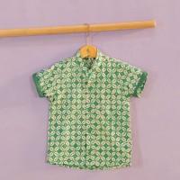 Pop Kidswear Sweta Batik Shirt - kemeja batik anak tosca