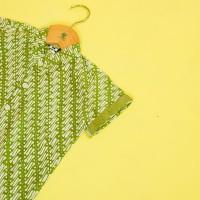 Pop Kidswear Udawa Batik Shirt - kemeja batik anak hijau muda