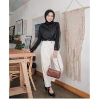 Blouse Arini Hitam [Baju Atasan Wanita 0153] TIX