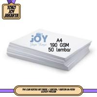 190 GSM Kertas Art Paper / Carton / Karton A4 Putih Glossy 190GSM