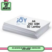 260 GSM Kertas Art Paper / Carton / Karton A4 Putih Glossy 260GSM