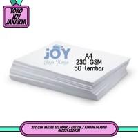 230 GSM Kertas Art Paper / Carton / Karton A4 Putih Glossy 230GSM