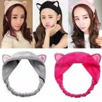 Bandana Bando Motif Kuping Hairband Korea Lucu Kucing/bandana kore
