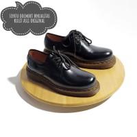 Sepatu Boots Pria Low Boot 3Hole Kulit Asli Docmart coklat marun1060.