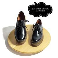 Sepatu Boot Pria Low Boot 3 Hole Kulit Asli Docmart 1060 Hitam