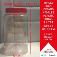 Toples Plastik Kotak Ikan Cupang 2 Liter (66gr)