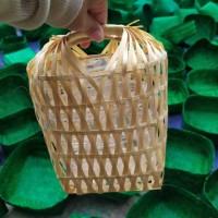 TEMPAT/Keranjang parcel nastar keranjang bambu roti kering keranjang
