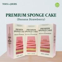TOUS les JOURS Banana Strawberry Sponge Cake (ISI 3 PCS)
