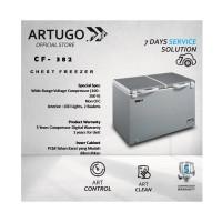 Chest Freezer Stainless Grey ARTUGO CF 382