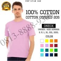 Kaos Polos Katun Combed Premium 20s Tebal / Kaus Oblong Pria