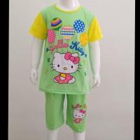 Baju kaos setelan stelan baju tidur anak perempuan hello kitty piyama