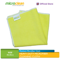 Microclean Heavy-Duty Microfiber Cleaning Cloth YELLOW 30x30cm 320 GSM